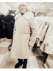 Бекеша офицерская, армейская дубленка из овчины, белая, мужская, 50 размер, новодел