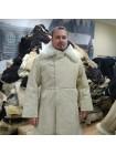 Бекеша офицерская, армейская дубленка из овчины, белая, мужская, 48 размер, новодел