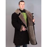 Бекеша офицерская, армейская дубленка из овчины, черная, мужская, 48 размер, новодел