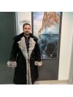 Бекеша офицерская, армейская дубленка из овчины, черная, мужская, 54 размер, новодел