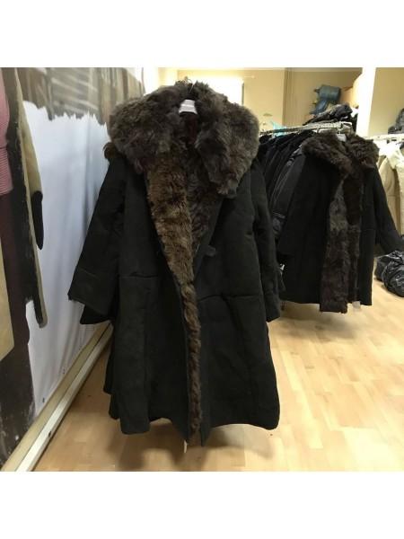 Бекеша офицерская, армейская дубленка из овчины, черная, мужская, 56 размер, новодел