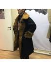 Бекеша офицерская, армейская дубленка из овчины, черная, мужская, 62 размер, новодел
