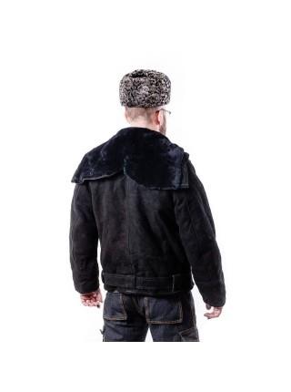 """Куртка ВМФ - """"Канадка"""" замшевая мужская кожаная меховая натуральная овчина зимняя, размер 46-70"""