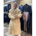 Купить Тулуп овчинный образца СССР, новый, черный, белый, мужской
