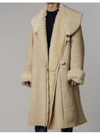 Тулуп армейский из овчины караульный размер 52 белый, черный, по ГОСТ СССР